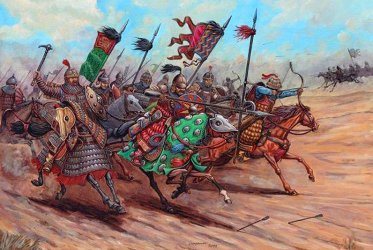 Mongol mounted cavalry