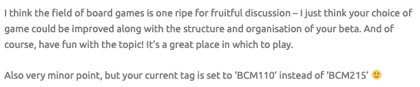 BCM215 Assessment 1 Part 4 - Comment #3 (Screenshot #2)